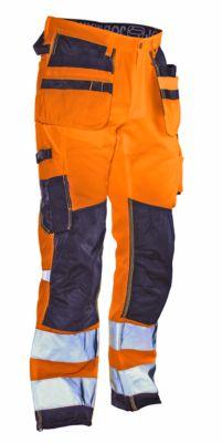 Ambachtsmansbroek Star HiVis oranje/zwart D120