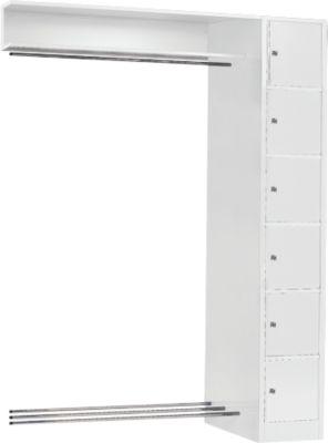Anbaueinheit, Schließfach-Garderobe, Säule S 4/6, lichtgrau/lichtgrau