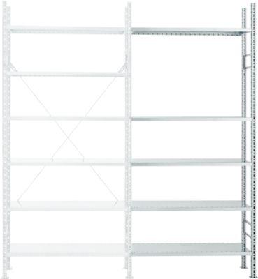 Anbaufeldregal R 3000, 5 Böden, verzinkt, T 500 mm