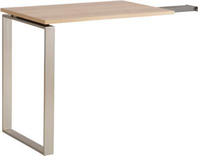 Ansatztisch Amy, B 557 mm, für Schreibtisch Amy, Eiche