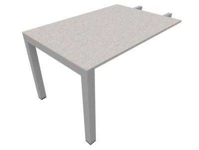 Ansatztisch SOLUS PLAY, Rechteck, B 1200 x T 800 x H 720 - 820 mm, Ceramic grey