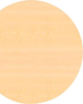 Ansatztisch TARA, Bogen, B 1000 x T 800 x H 720 mm, Ahorn-Dekor