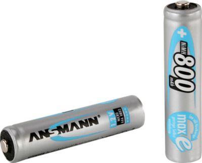 ANSMANN® oplaadbare batterijen maxE, AAA (micro), 800 mAh, pak van 4  stuks