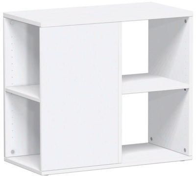Anstellcontainer PALENQUE, 3-seitig offen, B 400 x T 800 x H 720 mm, weiß