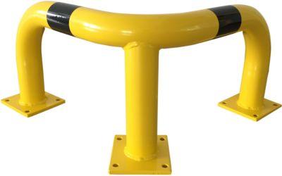 Anti-ram hoekbeugel, 350 mm hoog, voor binnen (schroeven apart bestellen)