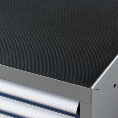 Antislip geribbelde mat, zwart, 1023 x 725 mm