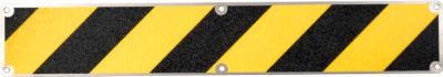 Antislipbord, 110 x 660 mm, zwart/geel