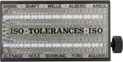Anzeigegerät für ISO Toleranzen