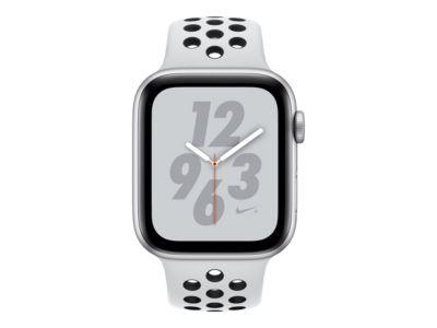 Apple Watch Nike+ Series 4 (GPS) - Aluminium, Silber - intelligente Uhr mit Nike Sportband - pures Platin/schwarz - 16 GB