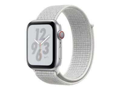 Apple Watch Nike+ Series 4 (GPS) - Aluminium, Silber - intelligente Uhr mit Nike Sportschleife - Summit White - 16 GB
