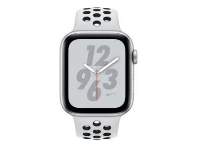 Apple Watch Nike+ Series 4 (GPS + Cellular) - Aluminium, Silber - intelligente Uhr mit Nike Sportband - pures Platin/schwarz - 16 GB - nicht angegeben