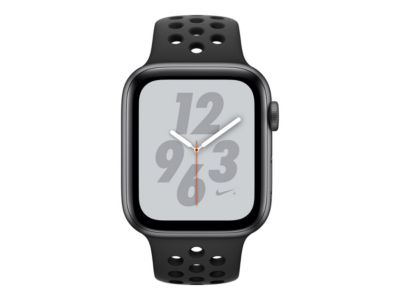 Apple Watch Nike+ Series 4 (GPS) - Weltraum grau Aluminium - intelligente Uhr mit Nike Sportband - anthrazit/schwarz - 16 GB