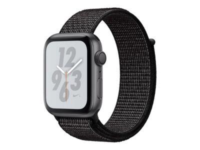 Apple Watch Nike+ Series 4 (GPS) - Weltraum grau Aluminium - intelligente Uhr mit Nike Sportschleife - schwarz - 16 GB