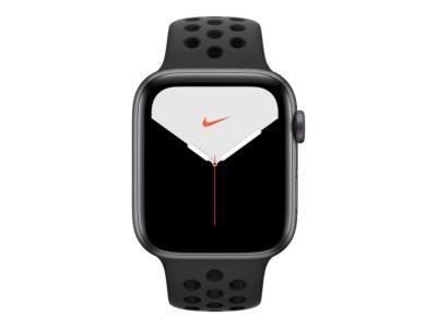 Apple Watch Nike Series 5 (GPS) - Weltraum grau Aluminium - intelligente Uhr mit Nike Sportband - anthrazit/schwarz - 32 GB