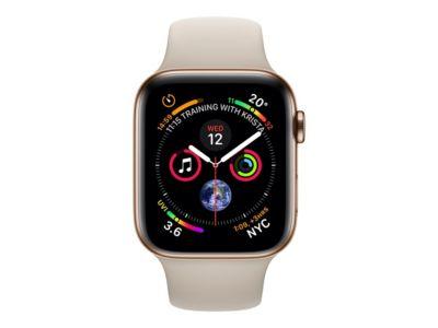Apple Watch Series 4 (GPS + Cellular) - Gold, Edelstahl - intelligente Uhr mit Sportband - Stein - 16 GB - nicht angegeben