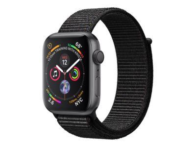 Apple Watch Series 4 (GPS) - Weltraum grau Aluminium - intelligente Uhr mit Sportschleife - schwarz - 16 GB