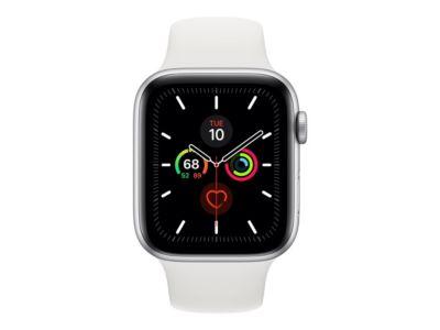 Apple Watch Series 5 (GPS + Cellular) - Aluminium, Silber - intelligente Uhr mit Sportband - weiß - 32 GB - nicht angegeben