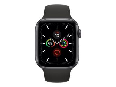 Apple Watch Series 5 (GPS + Cellular) - Weltraum grau Aluminium - intelligente Uhr mit Sportband - schwarz - 32 GB - nicht angegeben