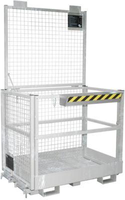 Arbeitsbühne für Stapler Typ MB-II, für 2 Personen, bis 300 kg, L 1040 x B 1300 x H 2155 mm, feuerverzinkt