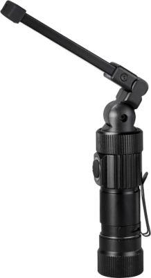 Arbeitsleuchte, COB LED/300 lm + SMD LED/20 lm, 5 Modi, Alu/ABS, H 97-194 x Ø 26 mm, WAB B40xT10 mm