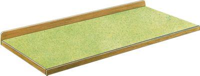 Arbeitsplatte mit Stoßbrett und Hartholzrahmen, 1500 x 700 mm