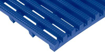 Arbeitsplatzmatte Yoga Roll®, 600 mm breit, blau