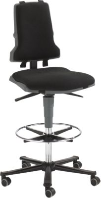 Arbeitsstuhl COUNTER Sintec, Sitz-Stopp-Rollen, anthrazit