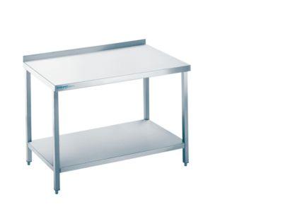 Arbeitstisch aus Edelstahl mit Bodenablage, 850 x 700 x 1000 mm