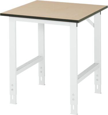 Arbeitstisch, MDF-Platte, B 750 x T 800 x H 760-1080 mm