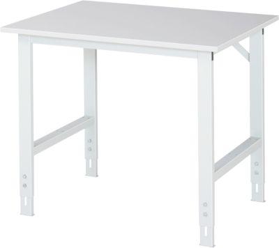 Arbeitstisch, Melamin-Platte, B 1000 x T 800 x H 760-1080 mm