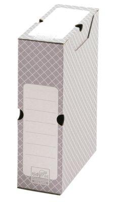 Archiefdozen rug 100 mm, 10 stuks, wit/grijs