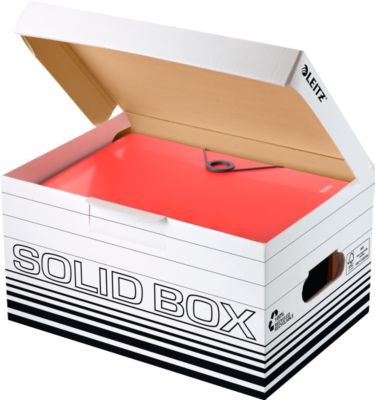 Archivbox Leitz Solid Box S 6117, 10 Stück, weiß