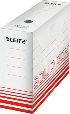 Archivschachtel Leitz Solid Box 6128 100 mm, DIN A4, für 900 Blatt, 10 Stück, rot