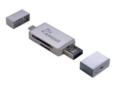 Argus R-004 - Kartenleser - Lightning/ USB 2.0 / Micro USB