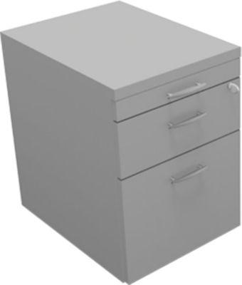 ARLON-OFFICE verrijdbare ladeblok, 1 + 1 stalen laden, 1 hangmappenlade, b 420 x d 560 x h 585 mm, lichtgrijs