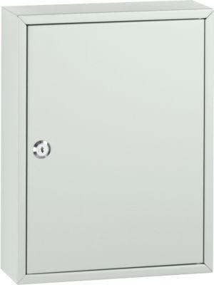 Armoire à clés TS42, pour 42 clés, gris clair/gris clair