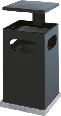 Asbak/prullenbak met afneembaar afdak, 38 liter, antraciet