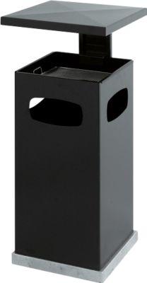 Ascher-Papierkorb mit abnehmbarem Dach, 72 Liter, anthrazit