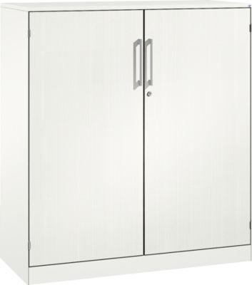 ASISTO C 3000 draaideurkast, 3 ordnerhoogtes, met akoestische fronten, B 1200 mm, wit/wit.