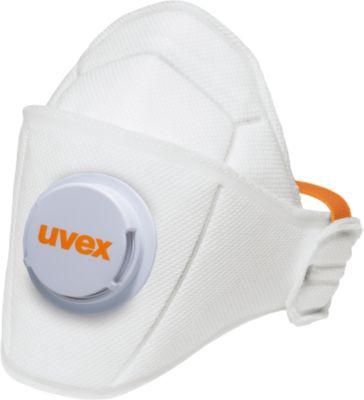 Atemschutzmaske Uvex silv-Air 5210 premium, FFP2 NR D, Faltmaske mit Ausatemventil, 15 Stück
