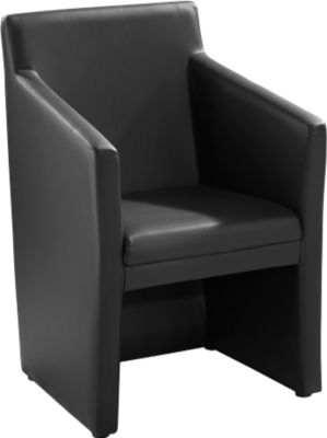Atrium Club fauteuil. zwart