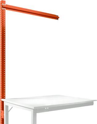 Aufbauportal, Ansatzisch SPEZIAL Arbeitstisch-/Werkbanksystem UNIVERSAL/PROFI, 1250 mm, rotorange