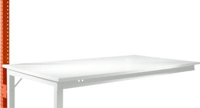 Aufbauportal, niedrig, Ansatztisch STANDARD Arbeitstisch/Werkbank UNIVERSAL/PROFI, rotorange