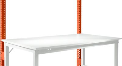 Aufbauportal, niedrig, Grundtisch STANDARD Arbeitstisch/Werkbank UNIVERSAL/PROFI, rotorange