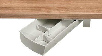 Aufbewahrungsbox Unterbau-Schwenkschale SWING, drehbar, weißgrau