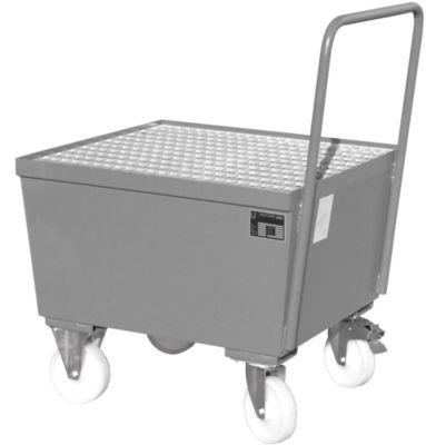 Auffangwanne Typ AW-F1, fahrbar, grau RAL7005