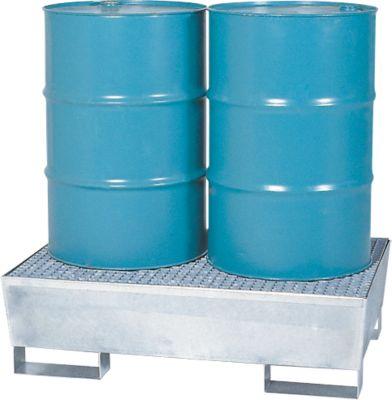 Auffangwanne WG 22, für 2 x 200 l Fässer, verzinkt