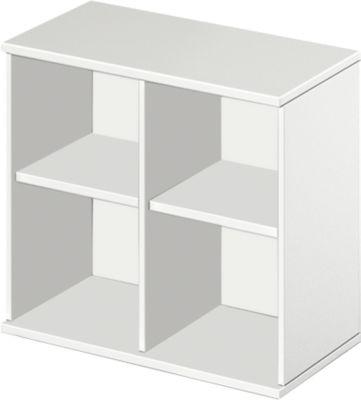Aufsatzregal LOGIN, 2 Ordnerhöhen, B 800 x T 420 x H 726 mm, weiß