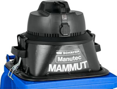 Aufsatzsauger Manutec-Mammut, 1100 W, geeignet für 120 l Mülltonnen, mit Werkzeugsteckdose