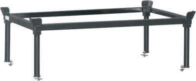 Aufsetzrahmen, für Paletten-Fahrgestell, Stahl, bis 1200 kg, anthrazitgrau, H 370/652 mm
